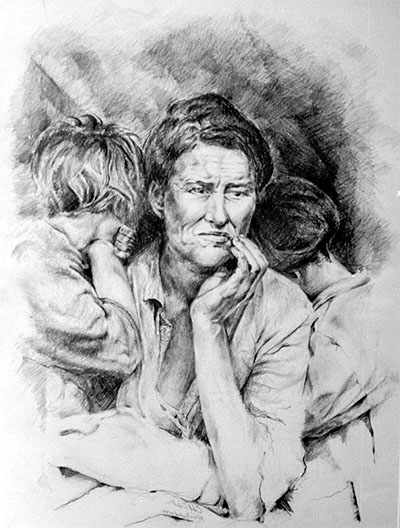 migrant mother painting